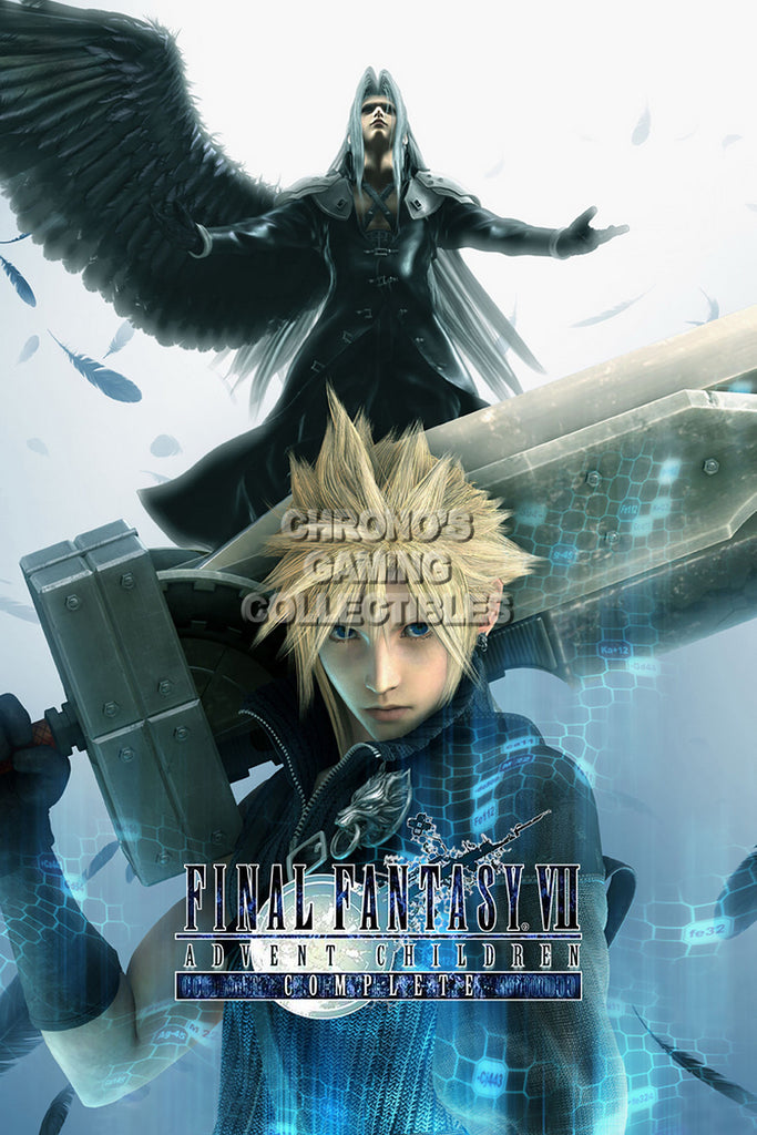 CGC Huge Poster - Final Fantasy VII Advent Children Cloud Strife PS1 PSP - FVII002
