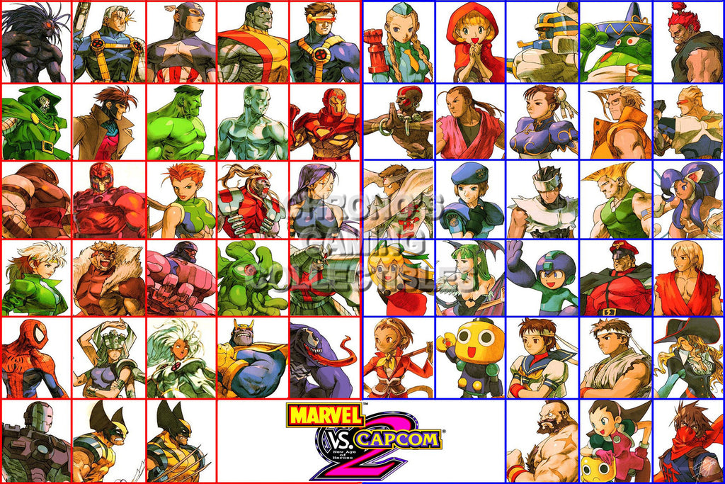 CGC Huge Poster - Marvel vs Capcom 2 New Age of Heroes All Characters PS2 - MVC006