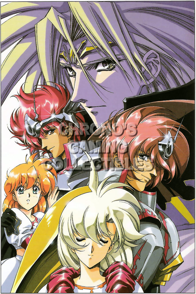 CGC Huge Poster - Langrisser V Sega Saturn Sony Playstation  - LAN011