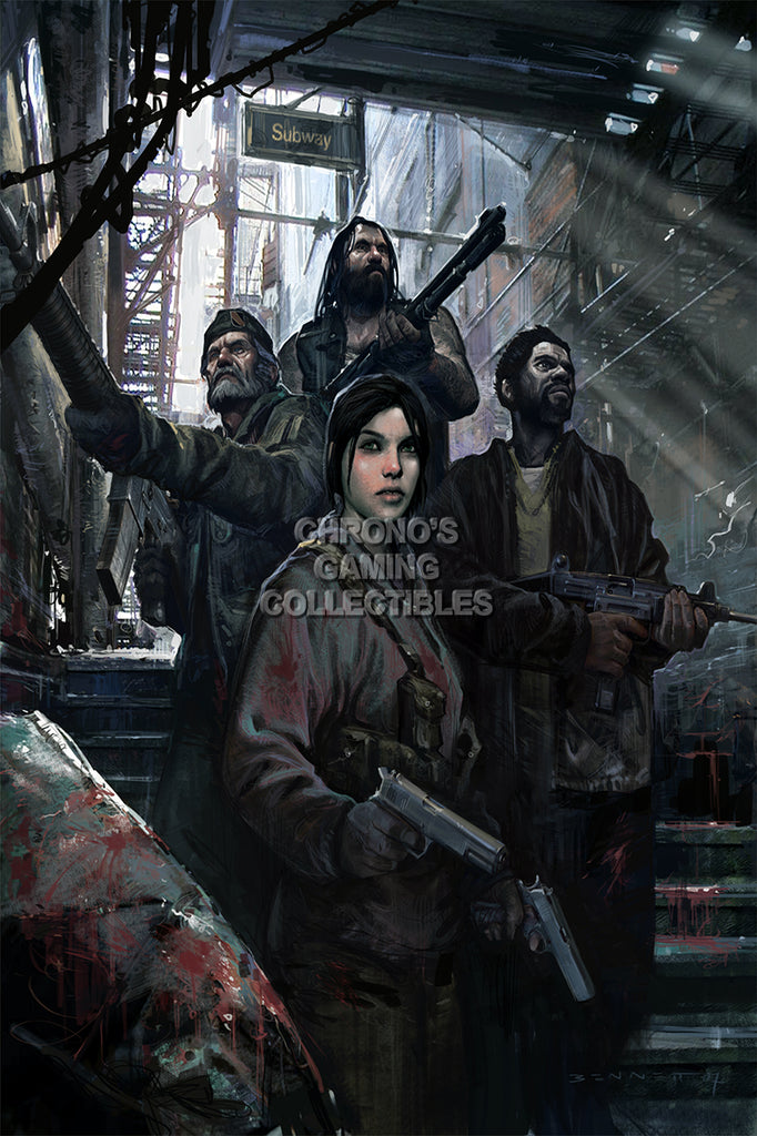 CGC Huge Poster - Left 4 Dead Dead Subway Entrance XBOX 360 PC - L4D014