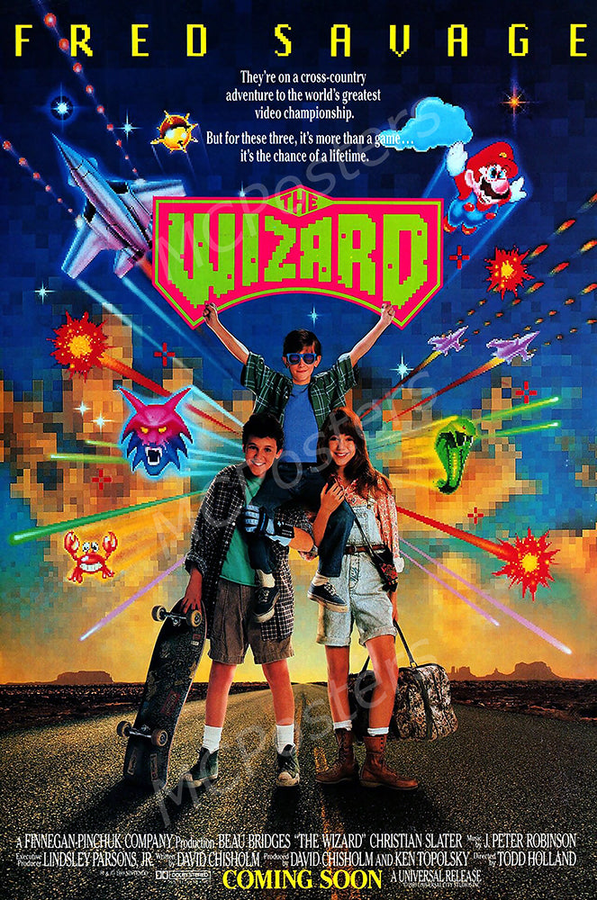 MCPosters - The Wizard Fred Savage GLOSSY FINISH Movie Poster - MCP919