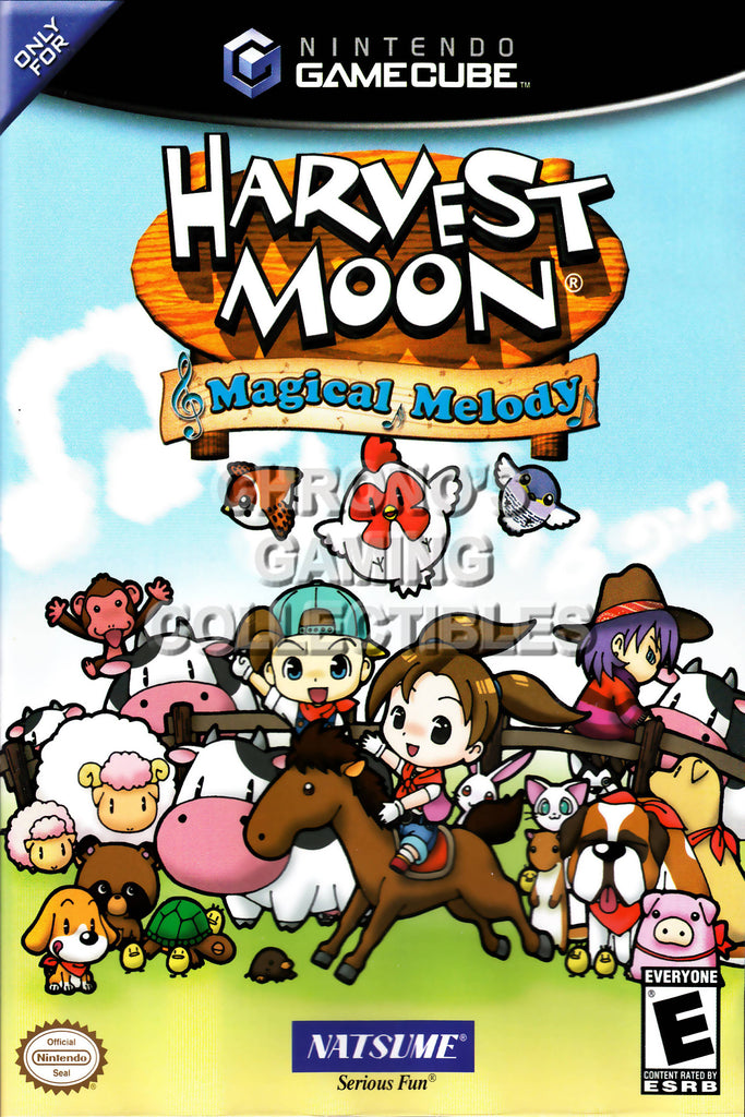 CGC Huge Poster - Harvest Moon Magical Melody BOX ART - Nintendo GameCube GC - NGC020