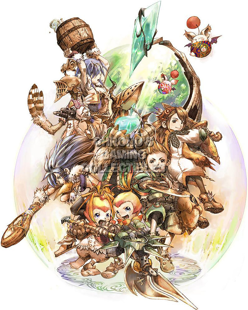 CGC Huge Poster - Final Fantasy Crystal Chronicles Nintendo GameCube Wii DS - FCC001