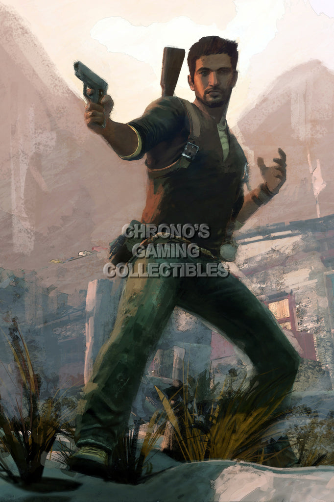 CGC Huge Poster - Uncharted 2 Among Thieves Concept Art Drake - PS3 PS4 - UCH030