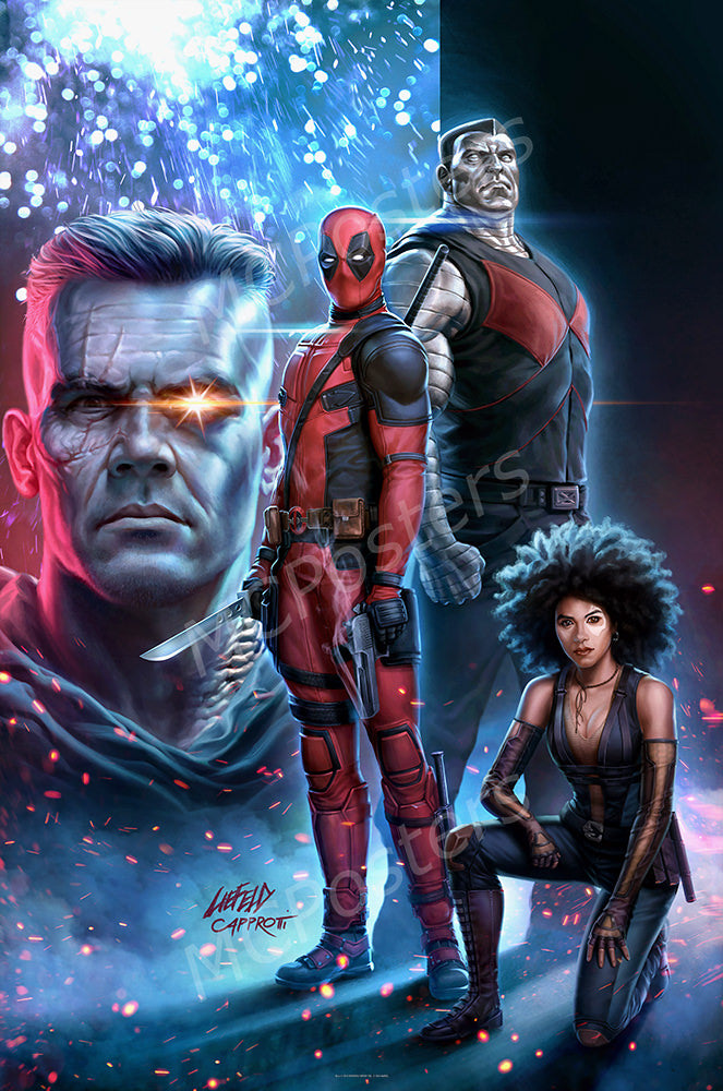 MCPosters - Marvel Deadpool 2 Textless GLOSSY FINISH Movie Poster - FIL983