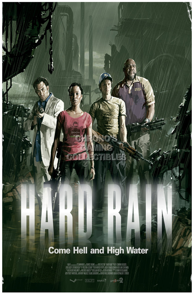 CGC Huge Poster - Left 4 Dead 2 Hard Rain XBOX 360 PC - L4D006