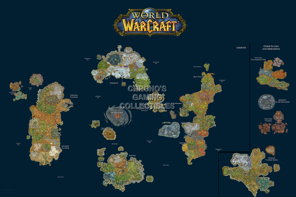 CGC Huge Poster - World of Warcraft World Map PC - EXT185