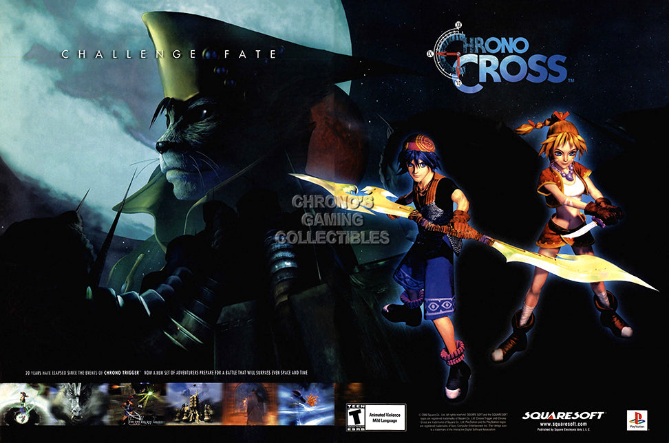 CGC Huge Poster GLOSSY FINISH - Chrono Cross Original Playstation PS1 PS2 Trigger SNES DS - EXT708