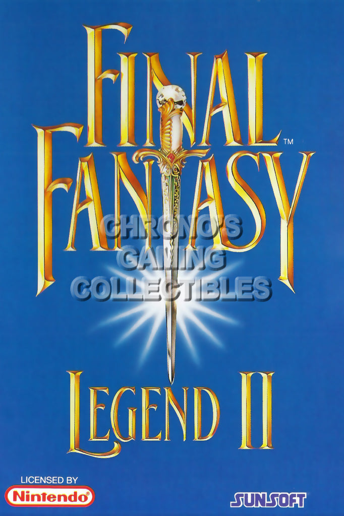 CGC Huge Poster - Final Fantasy Legend II Original Nintendo Gameboy Box Art- GBO020