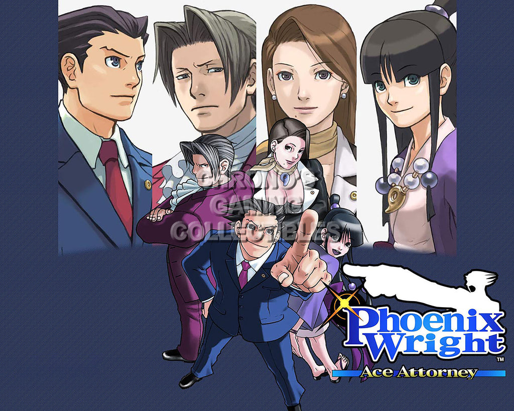 CGC Huge Poster -Phoenix Wright Ace Attoney Nintendo GBA DS Wii U IOS - PHW003