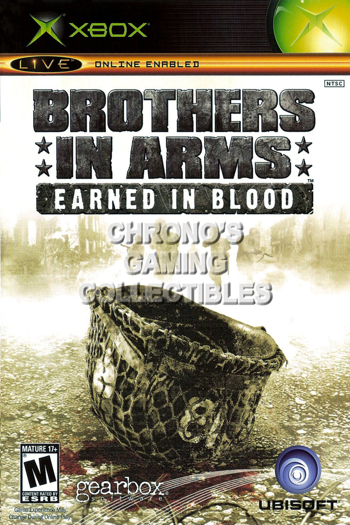 CGC Huge Poster - Brothers in Arms Earned in Blood BOX ART - Original XBOX - XBX008