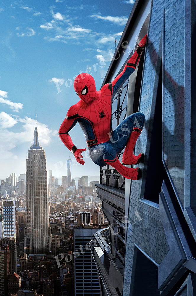 Posters USA - Marvel Spider-Man Homecoming Spiderman Textless GLOSSY FINISH Movie Poster - FIL498