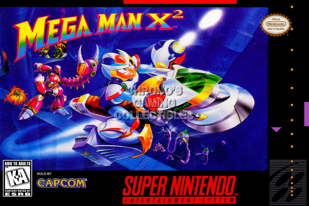 CGC Huge Poster - Mega Man X2 Super Nintendo SNES Box Art - MMA009