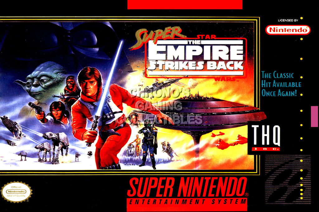 CGC Huge Poster -  Super Star Wars Empire Strikes Back Super Nintendo SNES Box Art - SNES37