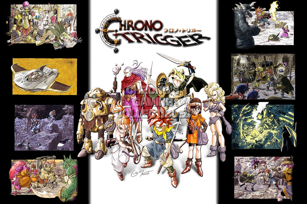 CGC Huge Poster - Chrono Trigger All Characters Super Nintendo SNES DS - CHO003