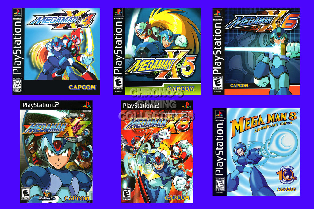 CGC Huge Poster - Mega Man Playstation 1 2 X4 X5 X6 X7  X8 8 Box Art - MMA014