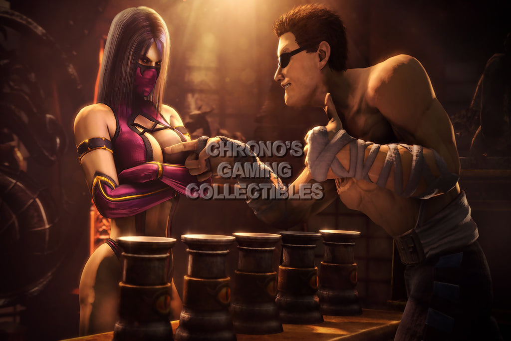 CGC Huge Poster - Mortal Kombat X Johnny Cage and Mileena PS3 PS4 XBOX 360 ONE - MKX009