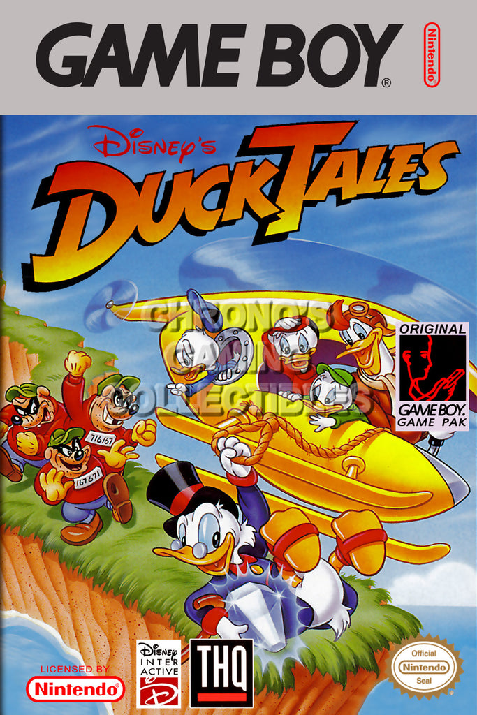 CGC Huge Poster - Duck Tales Original Nintendo Gameboy Box Art - GBO017