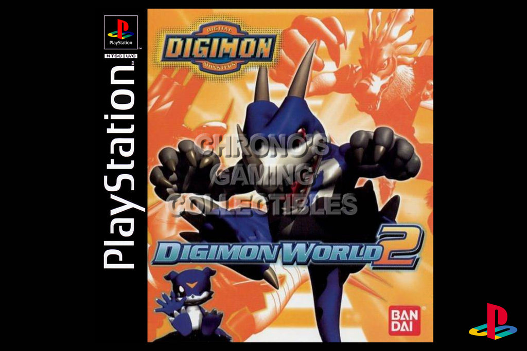 CGC Huge Poster - Digimon World 2 - Playstation PS1 PSX - PSX020