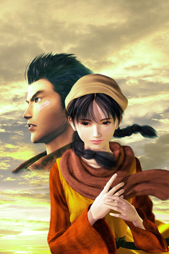 CGC Huge Poster - Shenmue II Ryo and Shenhua Dreamcast Xbox - SHE004
