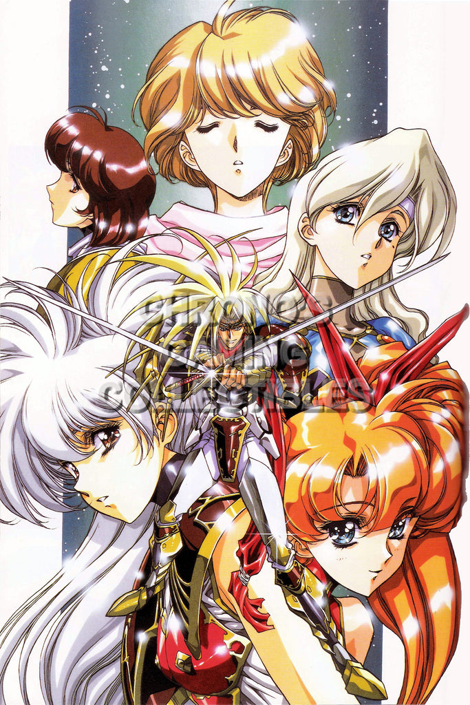 CGC Huge Poster - Langrisser II Super Nintendo Sega Saturn Sony Playstation - LAN004