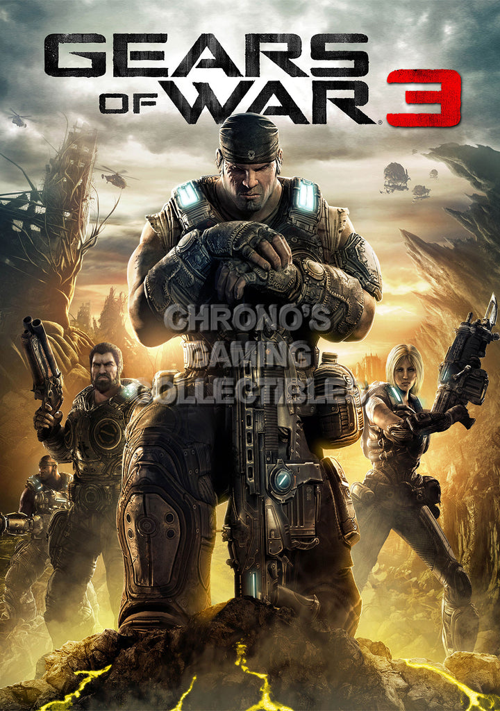CGC Huge Poster - Gears of War 3 XBOX 360 - GAS017