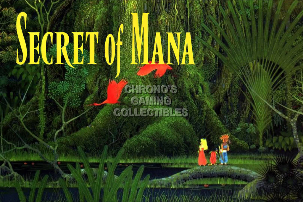 CGC Huge Poster -  Secret of Mana Super Nintendo SNES Art - SOM007