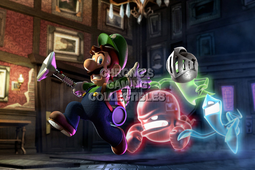 CGC Huge Poster - Luigi's Mansion Nintendo 3DS GameCube - MAR016