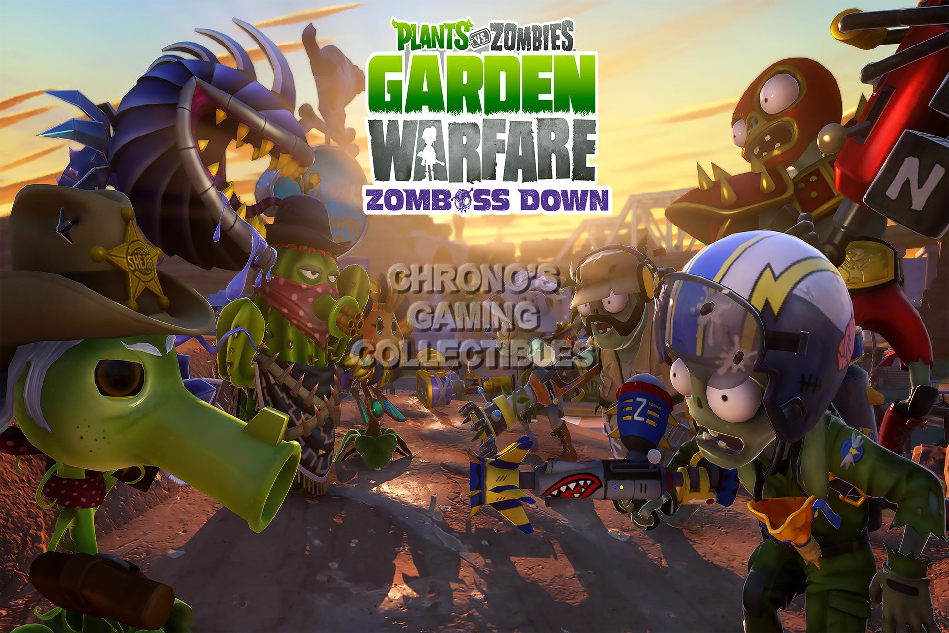 cgc huge poster plant vs zombies garden warfare ps3 ps4 xbox 360 one pvz009 - Plants Vs Zombies Garden Warfare 2 Xbox 360