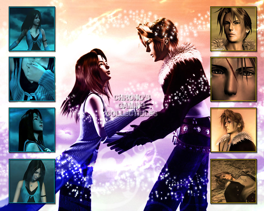 CGC Huge Poster - Final Fantasy VIII Squall and Rinoa PS1 PS2 PS3 PSP Vita - FVIII005