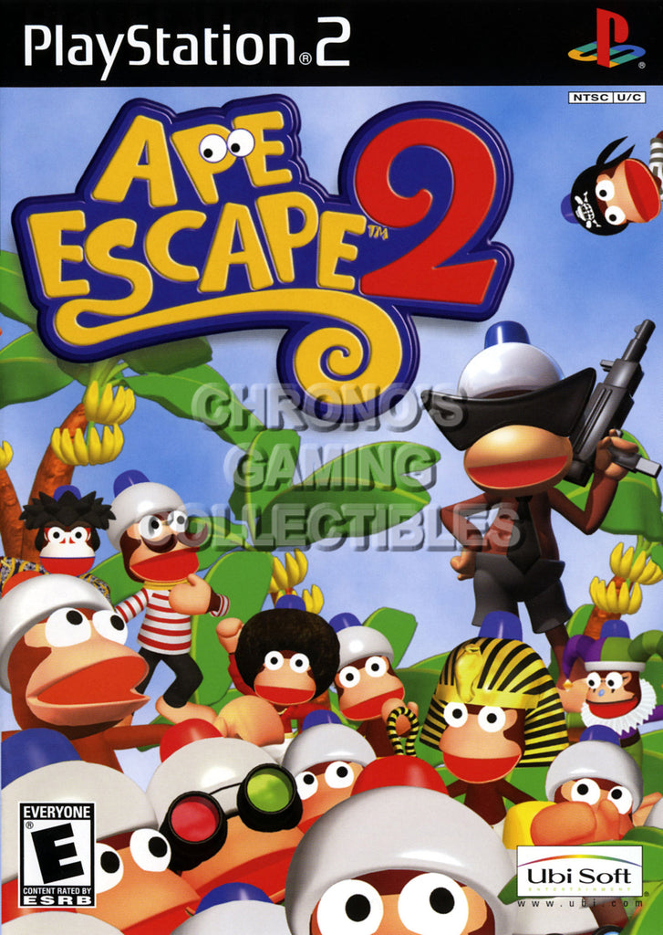 CGC Huge Poster - Ape Escape 2 - BOX ART Sony Plastation 2 PS2 - PS2011