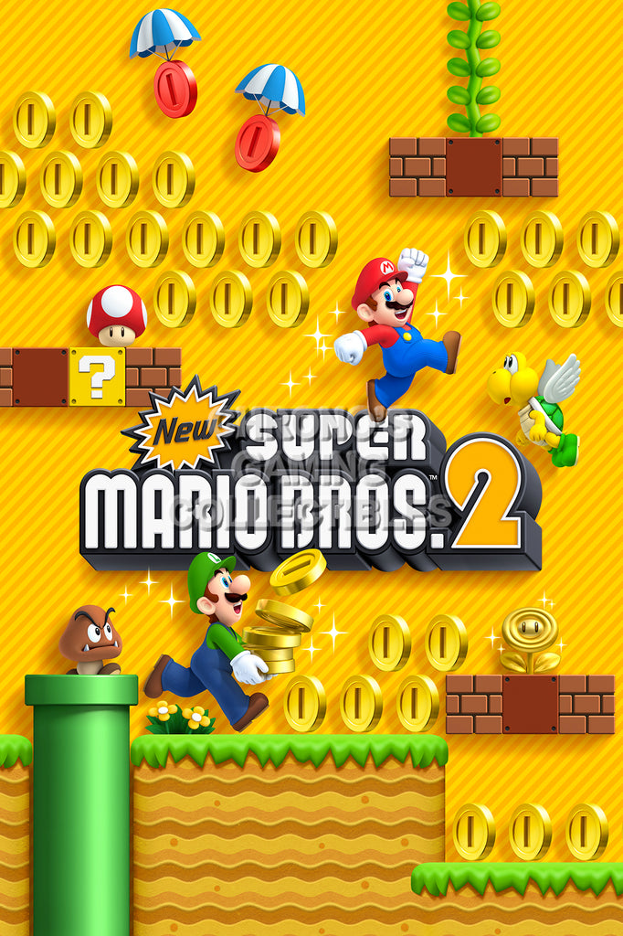 CGC Huge Poster - New Super Mario Bros. 2 Nintendo Wii U - MAR031