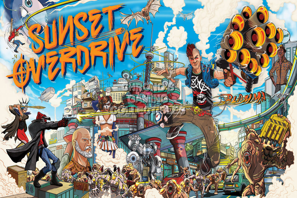 CGC Huge Poster - Sunset Overdrive XBOX ONE - SUN004