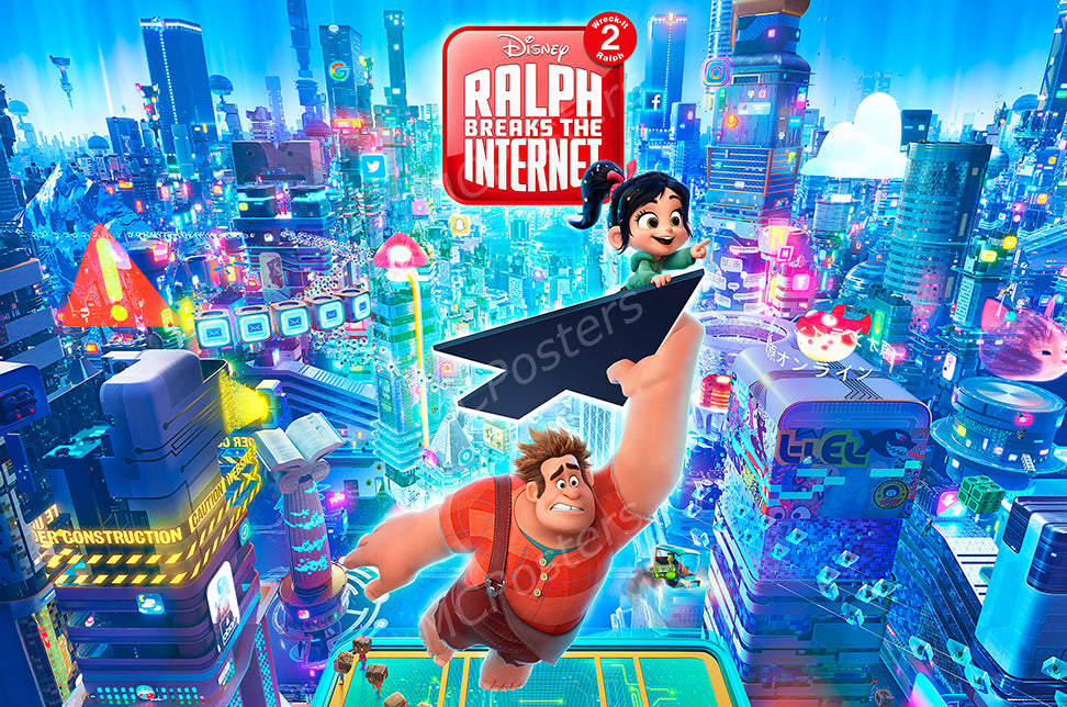 MCPosters - Disney Ralph Breaks the Internet GLOSSY FINISH Movie Poster - MCP926