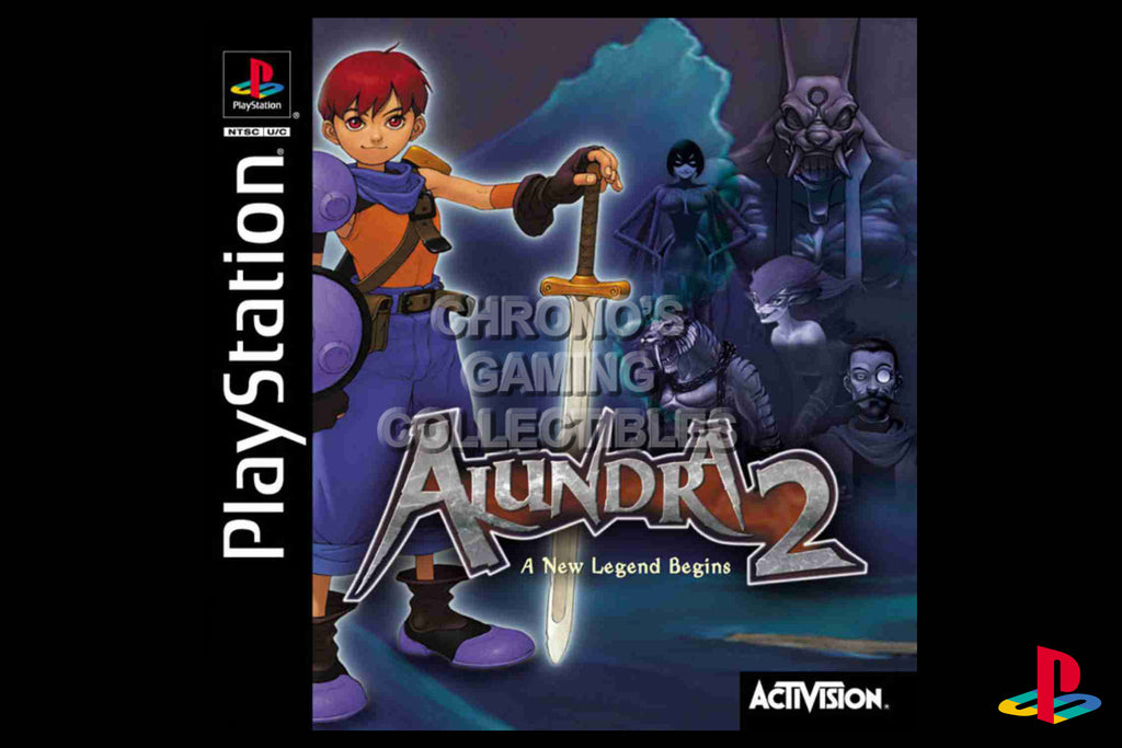 CGC Huge Poster - Alundra 2 A New Legend Begins - Playstation PS1 PSX - PSX001