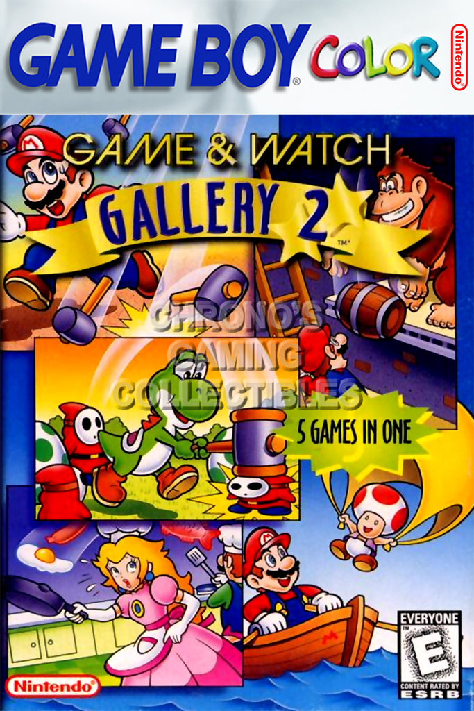 CGC Huge Poster - Game and Watch Gallery 2 Nintendo Game Boy Color GBC BOX ART - GBC017