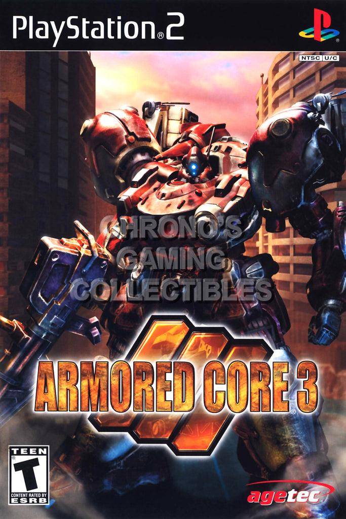 CGC Huge Poster - Armored Core 3 - BOX ART Sony Plastation 2 PS2 - PS2019