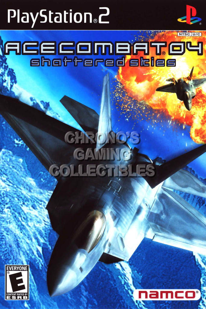 CGC Huge Poster - Ace Combat 4 Shattered Skies - BOX ART Sony Plastation 2 PS2 - PS2008