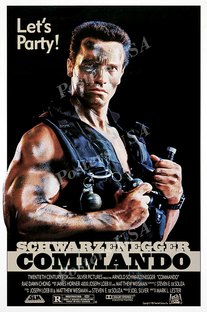 Posters USA - Arnold Schwarzenegger Commando Original Movie Poster GLOSSY FINISH   - FIL081