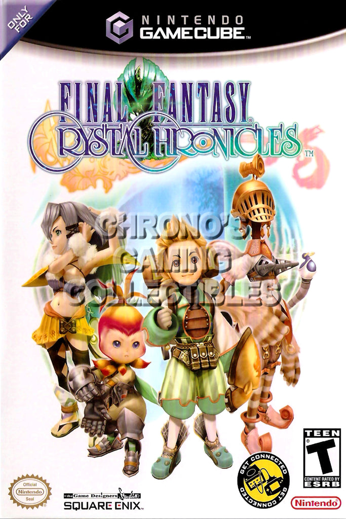 CGC Huge Poster - Final Fantasy Crystal Chronicles BOX ART - Nintendo GameCube GC - NGC014