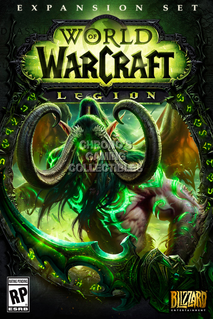 CGC Huge Poster - World of Warcraft Legion BOX ART PC - EXT178