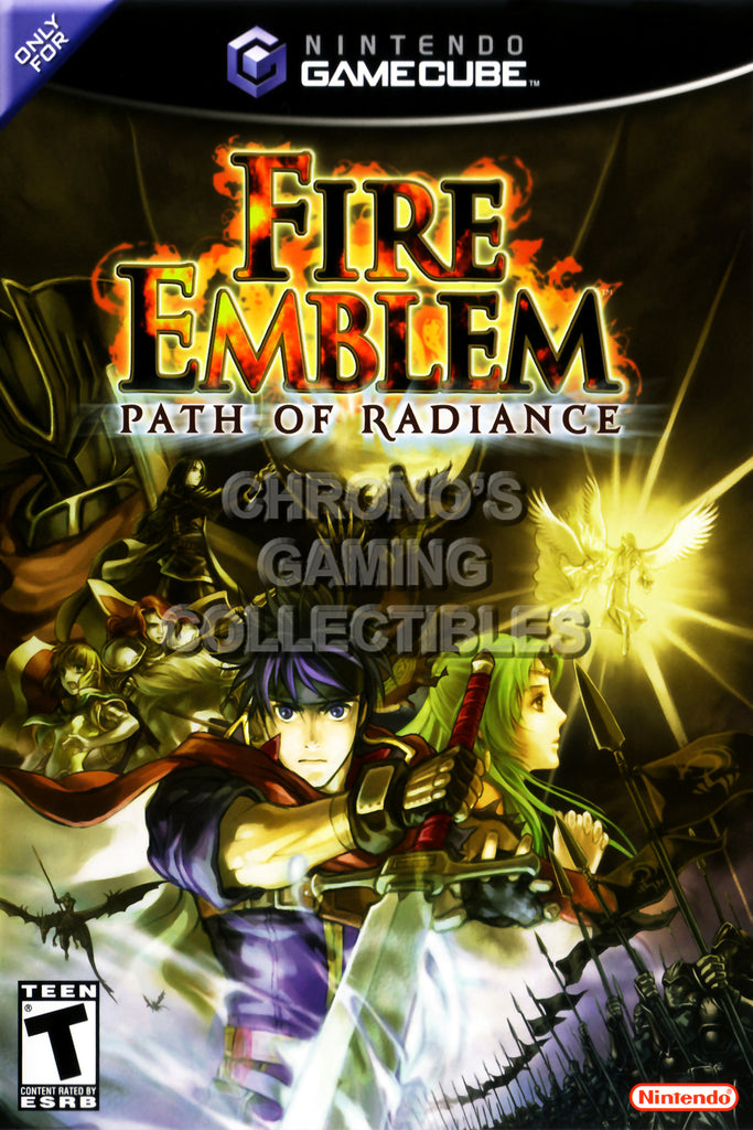 CGC Huge Poster - Fire Emblem Path of Radiance BOX ART - Nintendo GameCube GC - NGC015