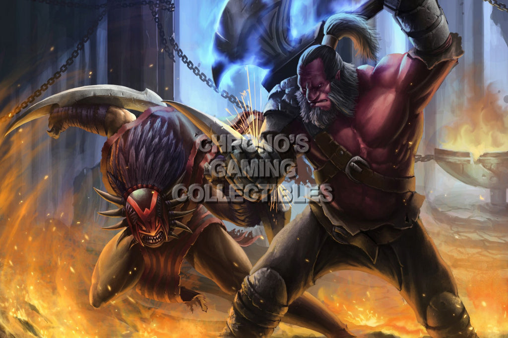 CGC Huge Poster - Dota 2 Axe VS Bloodseeker - DOTR02