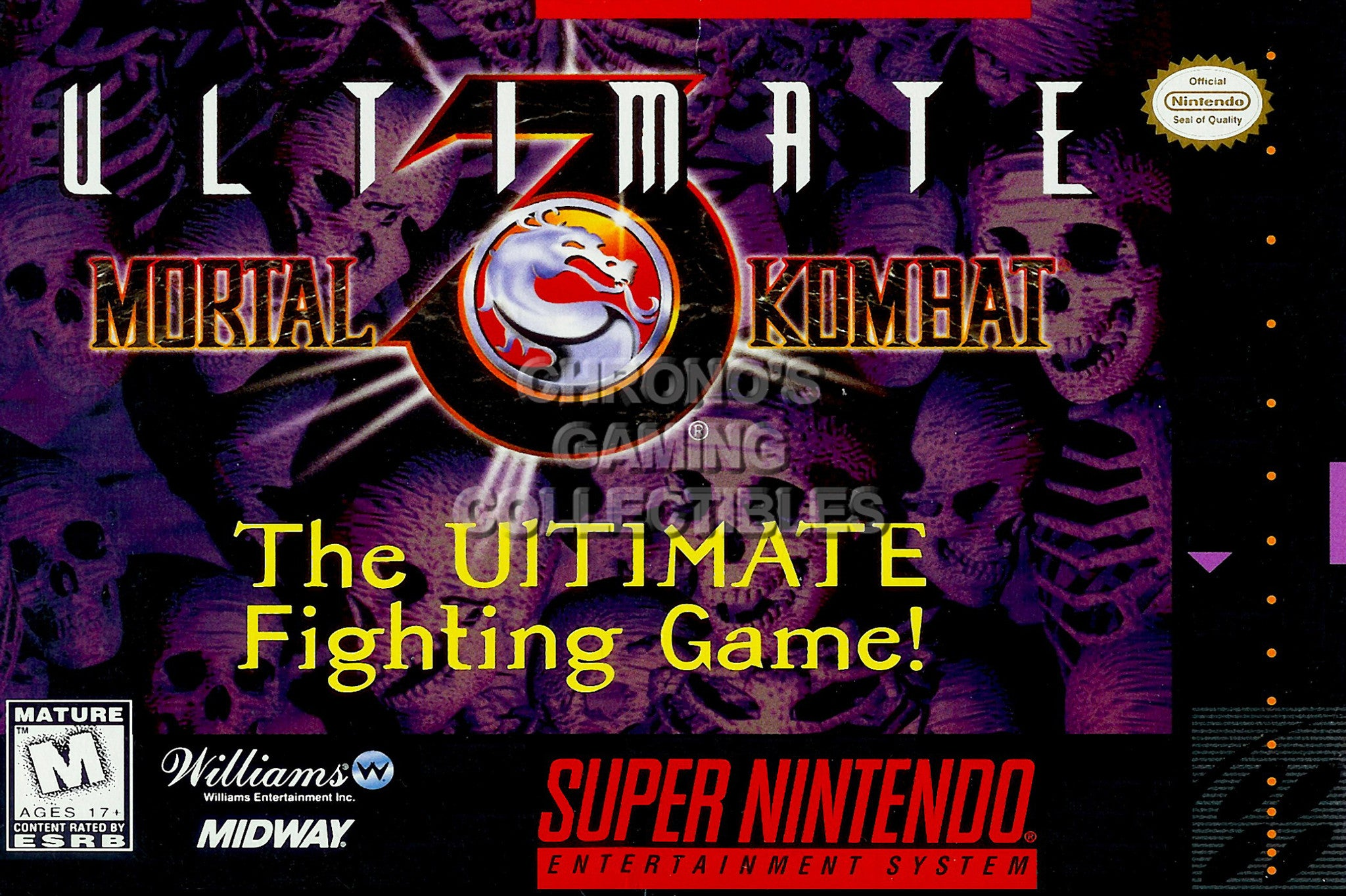 CGC Huge Poster - Ultimate Mortal Kombat III Super Nintendo SNES Box Art -  SNES24