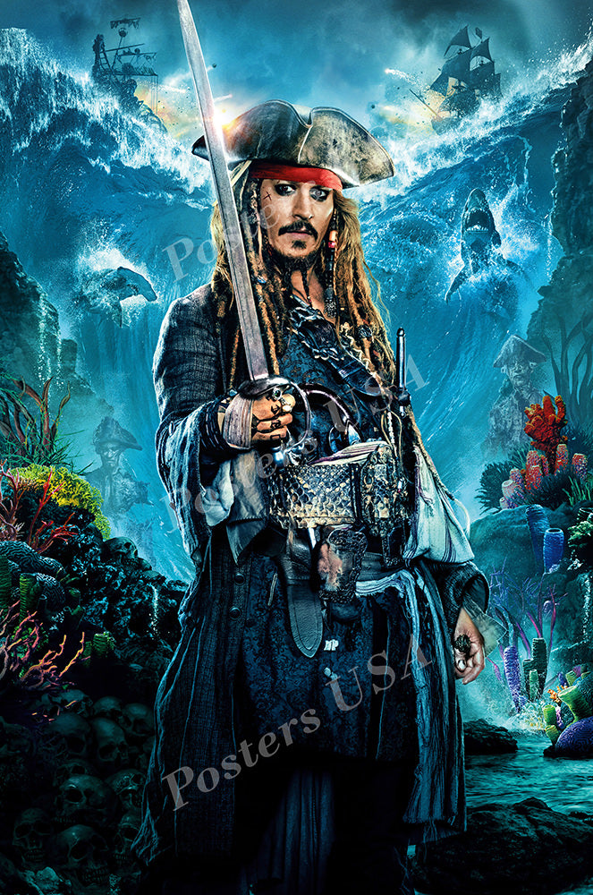 Posters USA - Pirates of the Carribean Jack Sparrow Textless Dead Men Tell No tales Movie Poster GLOSSY FINISH - FIL672