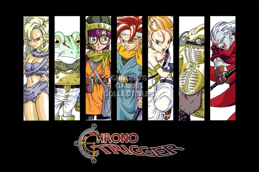 CGC Huge Poster - Chrono Trigger Characters Super Nintendo SNES DS - CHO011