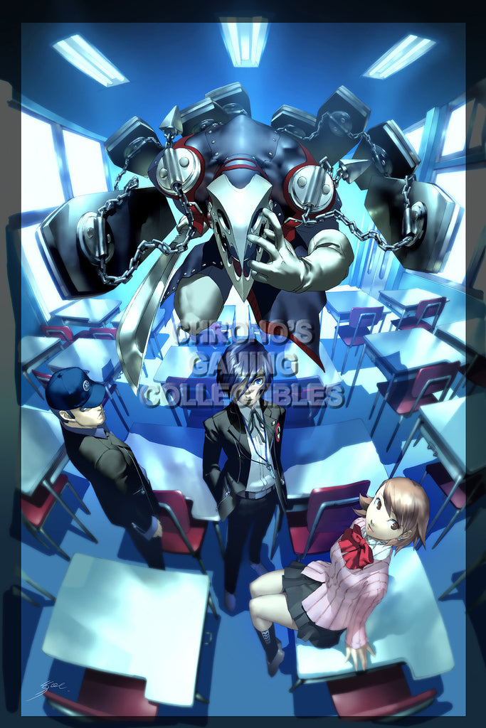 CGC Huge Poster - Persona 3 PS2 PSP - PER309