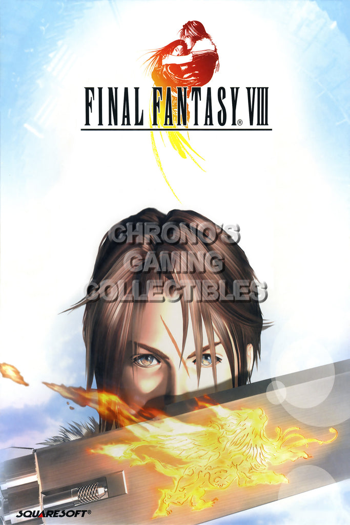CGC Huge Poster - Final Fantasy VIII Squall PS1 PS2 PS3 PSP Vita - FVIII013