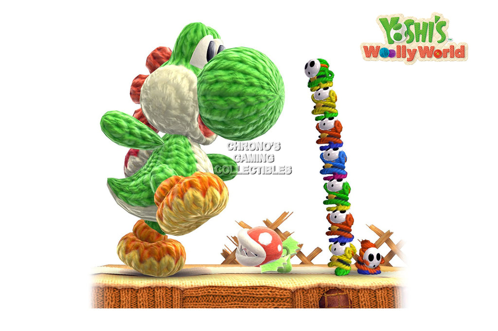 CGC Huge Poster - Yoshi's Woolly World Nintendo Wii U 3DS - EXT188