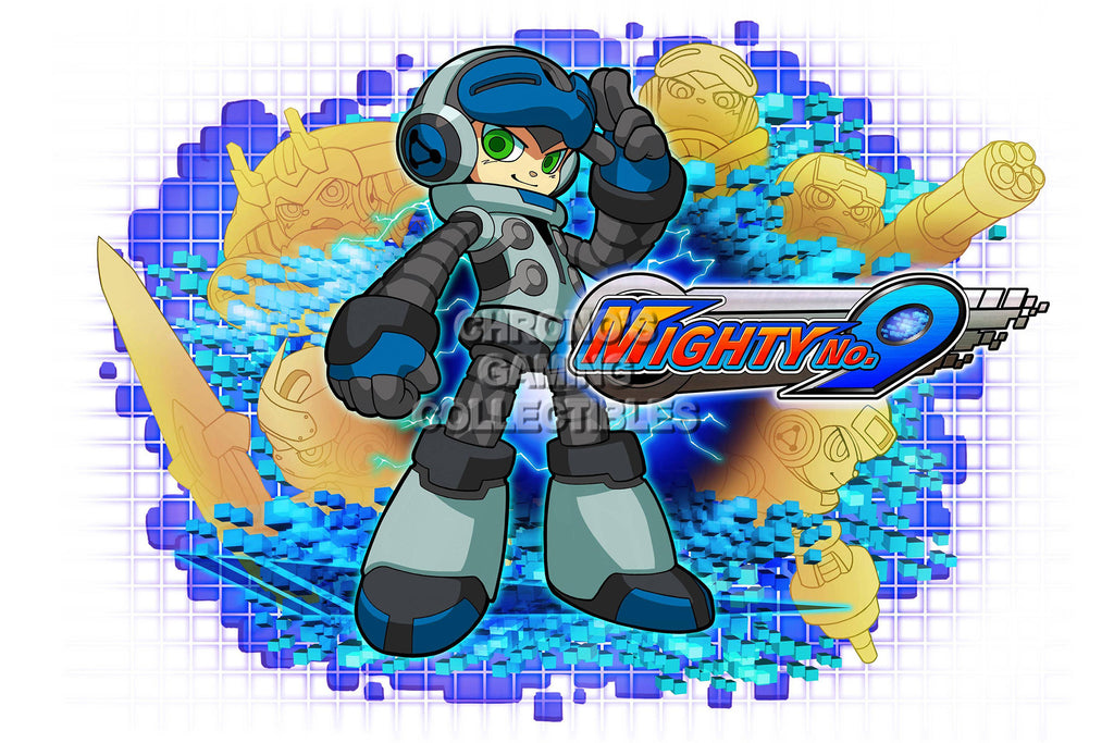 CGC Huge Poster - Mighty No 9 -  PS3 PS4 XBOX 360 ONE Nintendo 3DS WII U - MTN001